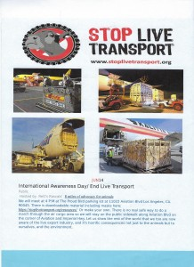 Stop live transport event June 14th 4 PM LAX